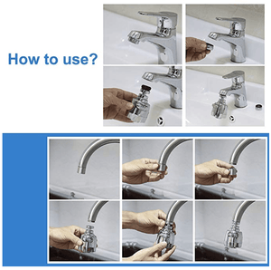 Stainless Easy Rotate Tap Head
