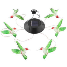 Load image into Gallery viewer, LED Solar Powered Hummingbird Chime