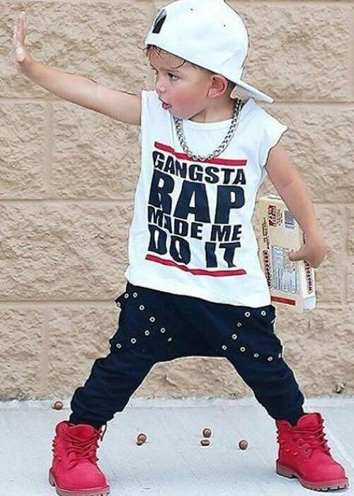 Gangsta Rap Harem Pants and T-Shirt Set