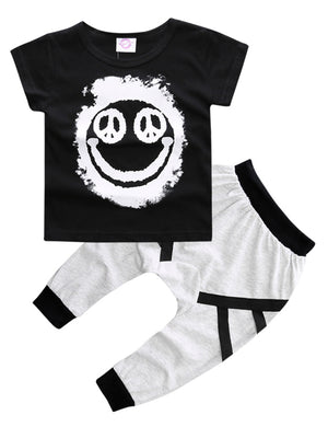Smiley Harem Pants Set