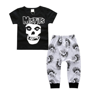 Skull Printed Set with Harem Pants