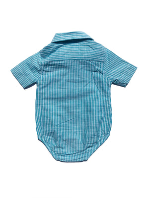Short Sleeve Baby Boy Shirt with Bow Tie