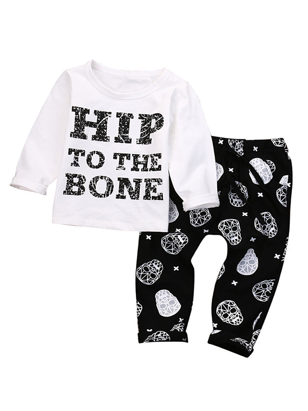 Hip to The Bone Toddler Harem Pants Set