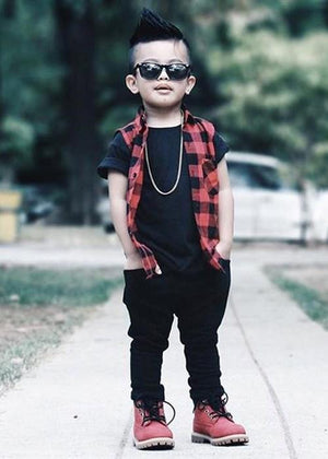 4pcs Boys Streetstyle Hip Hop Set
