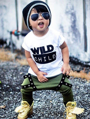 Wild Child  Green Harem Pants Set