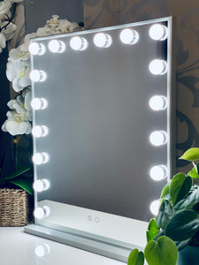 Vertical Vanity Glam Mirror with 18 LED Lights