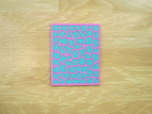 Load image into Gallery viewer, Pink & Aqua Colored Wood Puzzle, Elaine Kuckertz