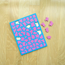 Load image into Gallery viewer, Baby Blue & Pink Laser Cut Wood Puzzle, Elaine Kuckertz