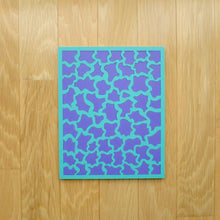 Load image into Gallery viewer, Aqua & Purple Laser Cut Wood Puzzle, Elaine Kuckertz