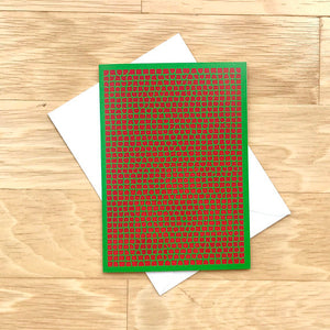 Green & Red Christmas Cards (Blank Inside), Elaine Kuckertz