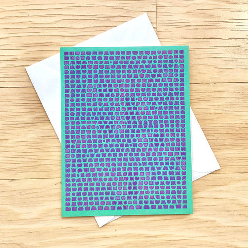 Aqua & Purple Blank Inside Stationery, Elaine Kuckertz