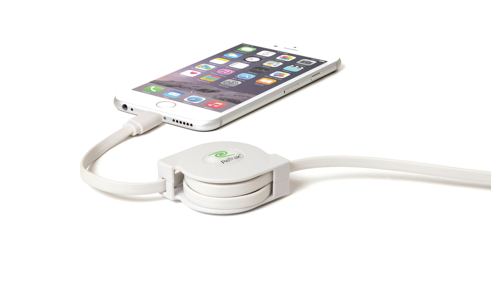 Lightning Charging Cable | Retractable Lightning Cable | Charge & Sync | White