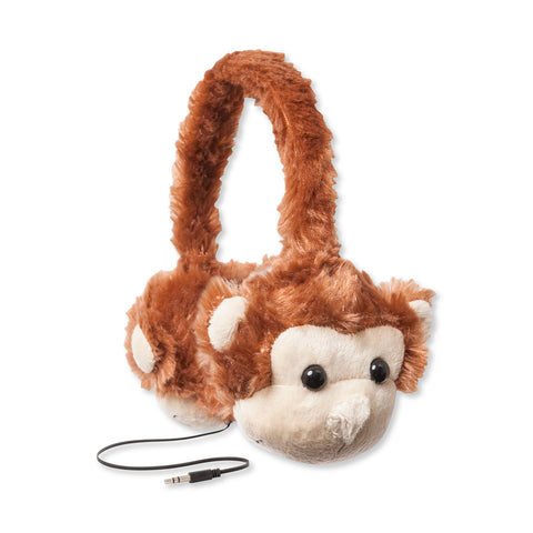Animalz Ear Headphones Lion | Kids Ear Headphones | Retractable Headphones Cord