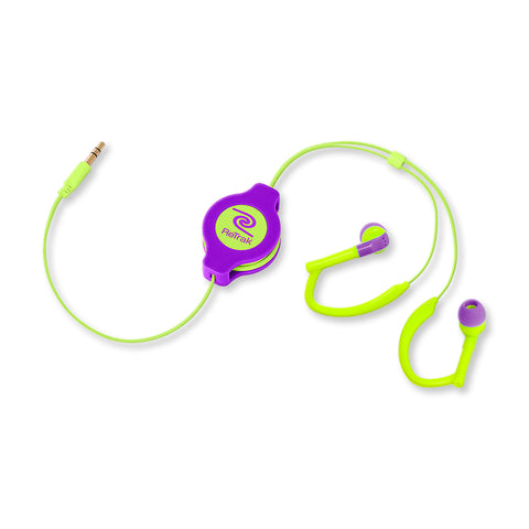 Cell Phone Armband | Sports Over-the-Ear Headphones | Large Armband | Retractable Cord | Green