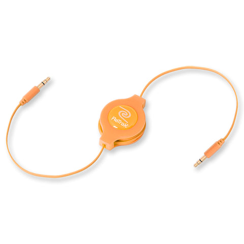 Premier Retractable Audio Headphone Splitter Cable with Individual Volume Controls