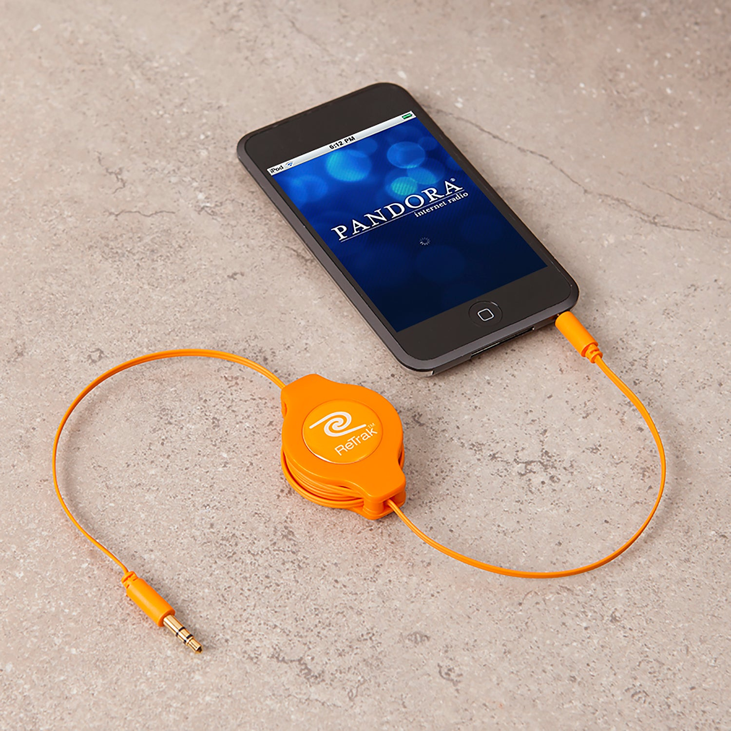 Audio Auxiliary Cord | Retractable Aux Cord | Orange