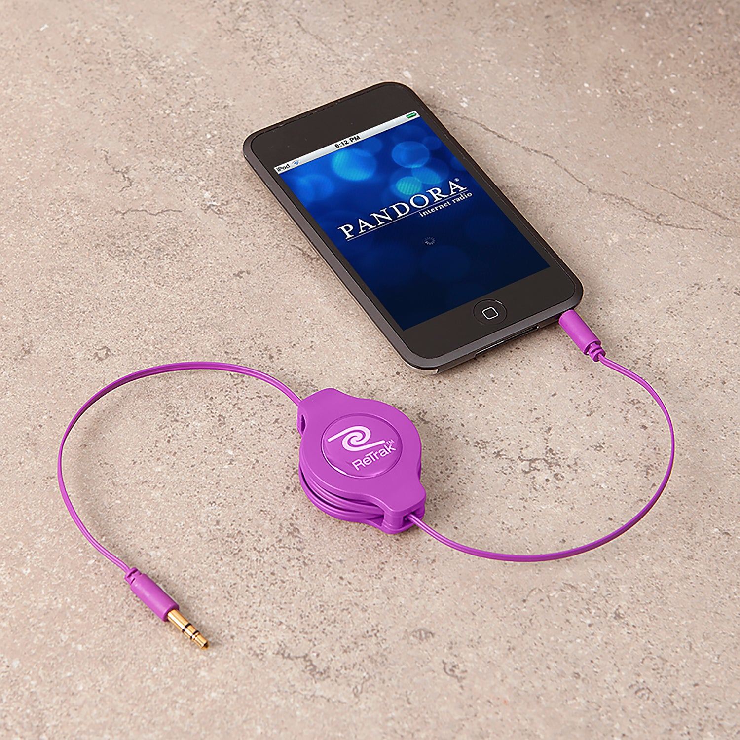Audio Auxiliary Cable | Aux Cord | Retractable Cord | Purple