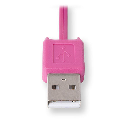 Micro USB Charging Cord | Retractable Micro USB Cable | Pink