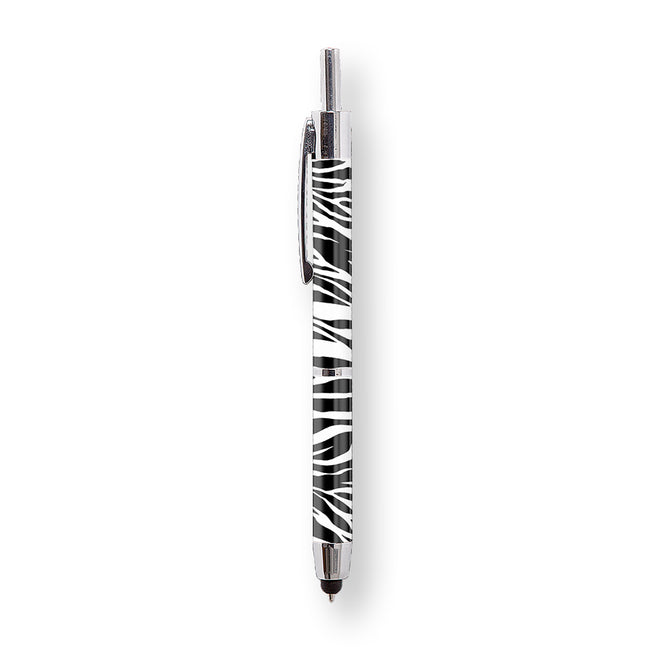 Zebra Print Stylus Pen | Retractable Premier Series Stylus Pen