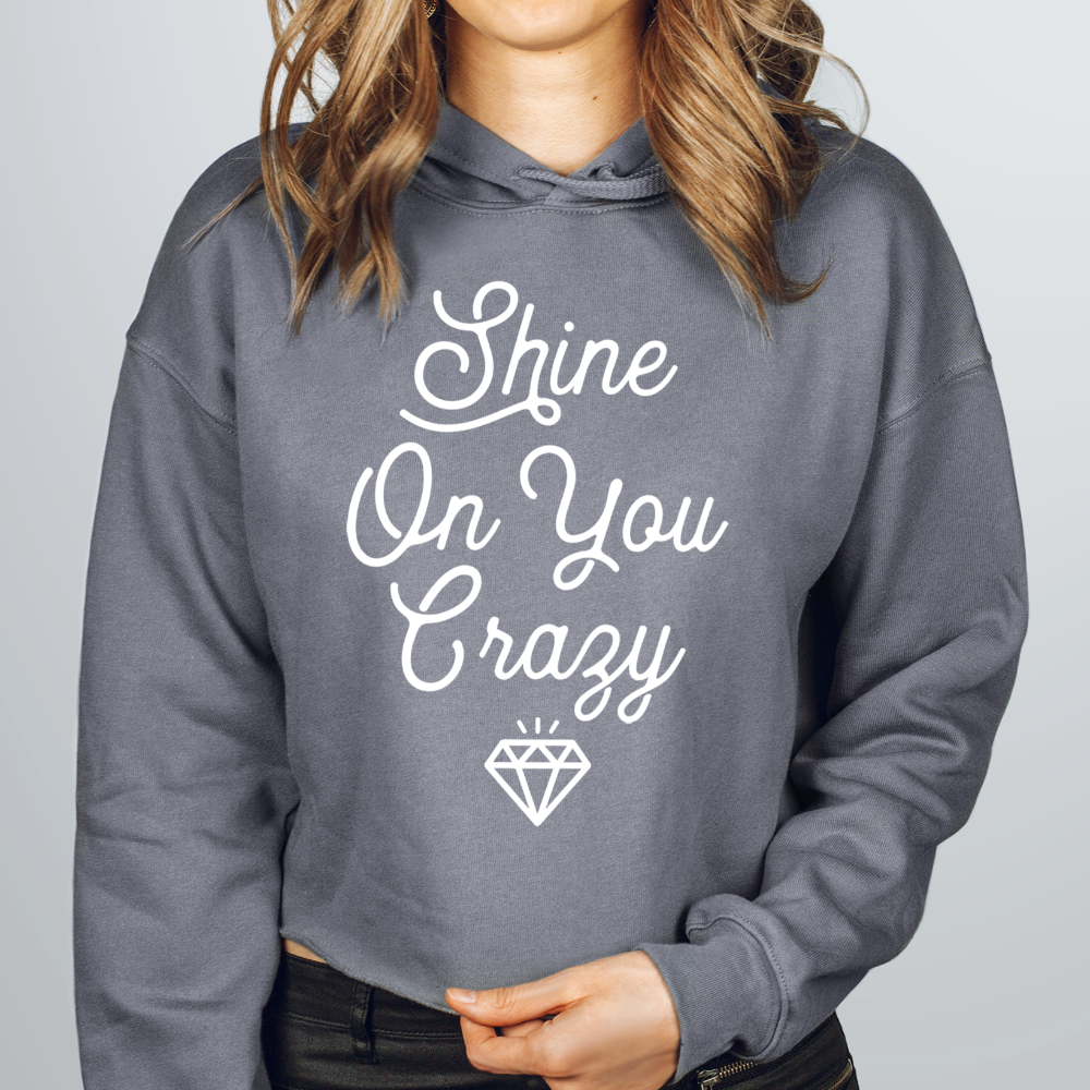 Shine On You Crazy Diamond Crop Hoodie