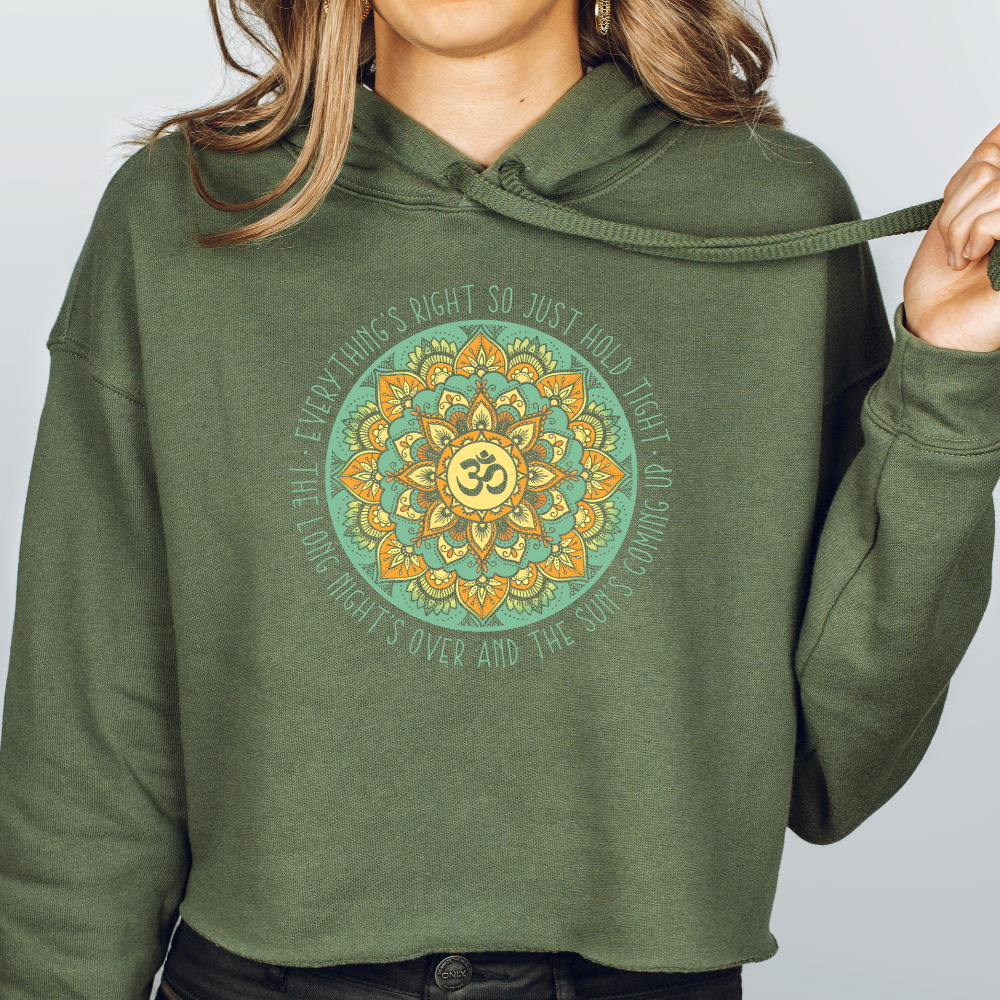 Women's Phish Crop Hoodie - Everything's Right