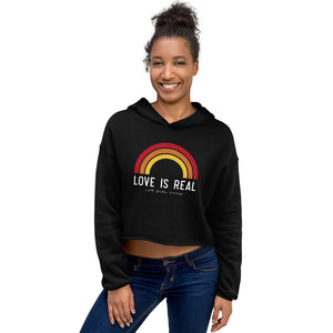 Love is Real ~ Not Fade Away Crop Hoodie