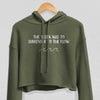 Women's Phish Crop Hoodie - Surrender to the Flow