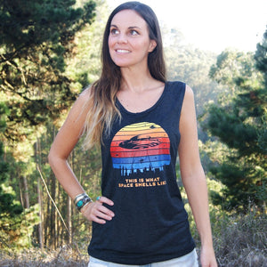 Women's Muscle Tank - This Is What Space Smells Like