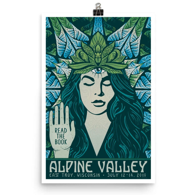 Phish Poster - Alpine Valley, East Troy WI 2019 Goddess Green