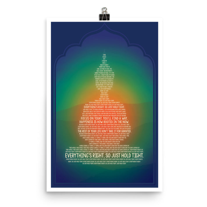 Lyrics Poster - Phish - Everything's Right Buddha