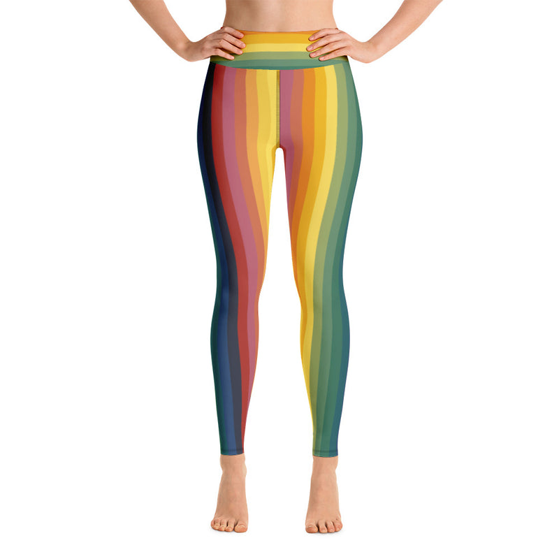 Rainbow Jerry High-Waist Leggings