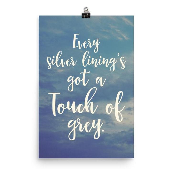 Lyrics Poster - Touch of Grey