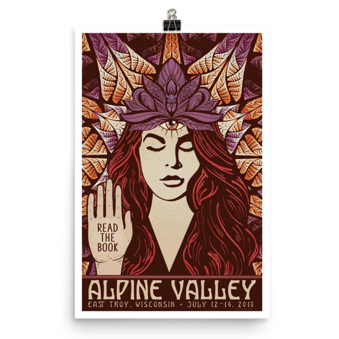 Phish Poster - Alpine Valley, East Troy WI 2019  Ruby Red