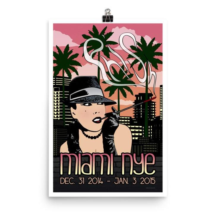 Phish Poster - American Airlines Arena - Miami, FL 2014