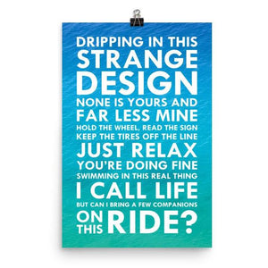 Lyrics Poster - Phish - Strange Design