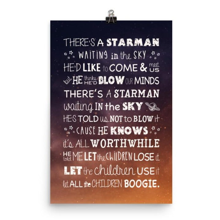 Lyrics Poster - Starman