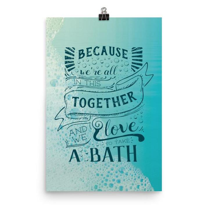 Lyrics Poster - Phish - Bathtub Gin