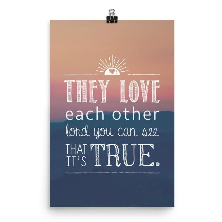 Lyrics Poster - They Love Each Other
