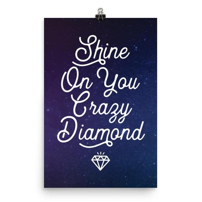 Lyrics Poster - Shine On You Crazy Diamond