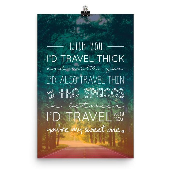 Lyrics Poster - Phish - My Sweet One