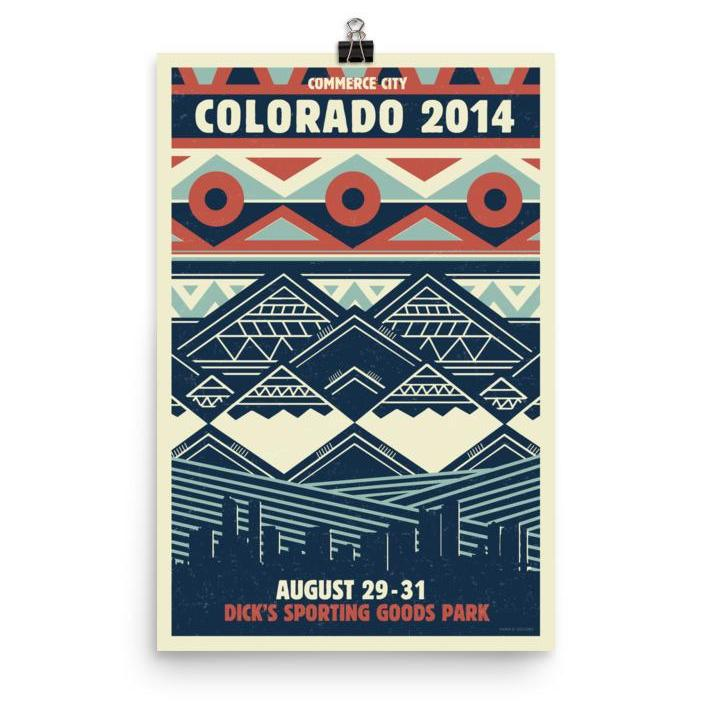 Phish Poster - Dick's - Commerce City, CO 2014