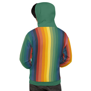 Men's Rainbow Jerry Hoodie - Rainbow/Green