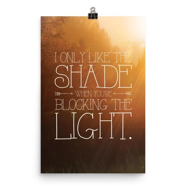 Lyrics Poster - Phish - Shade