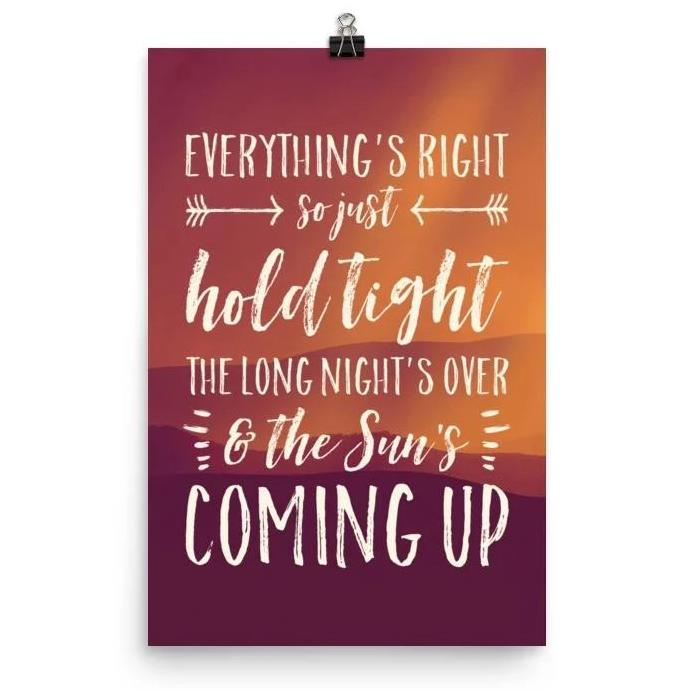Lyrics Poster - Phish - Everything's Right