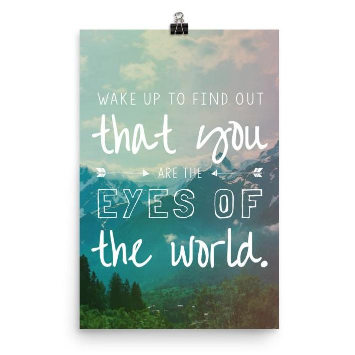 Lyrics Poster -  Eyes of the World