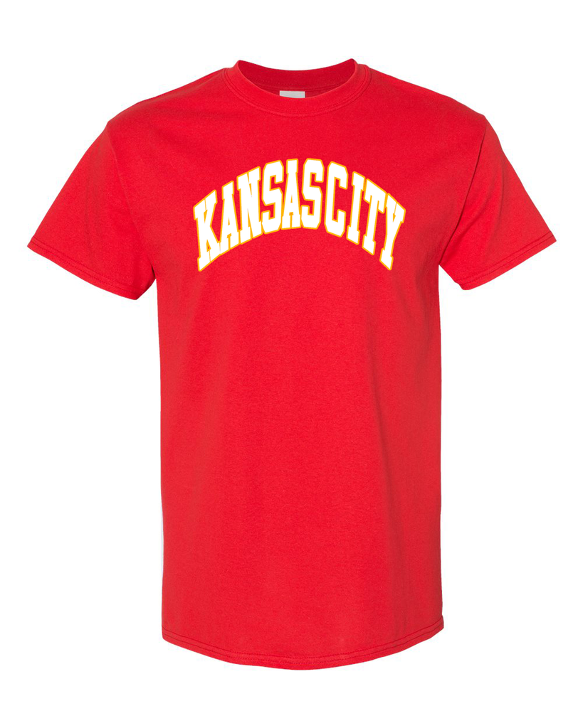 Kansas City Arch Tee (Red-White/Gold)
