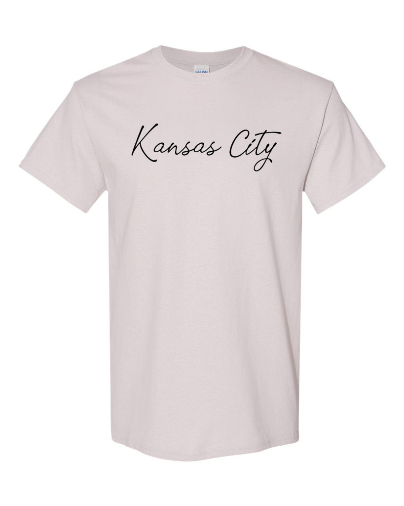Kansas City Cursive Tee (Ice Grey)