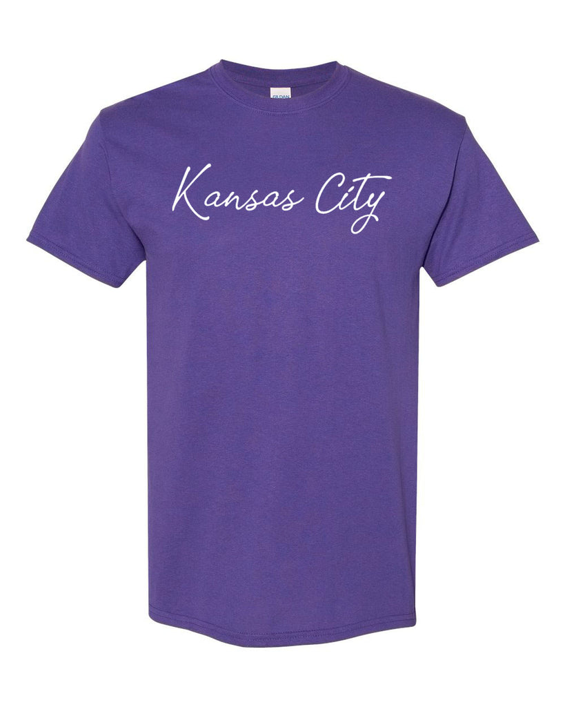 Kansas City Cursive Tee (Purple)