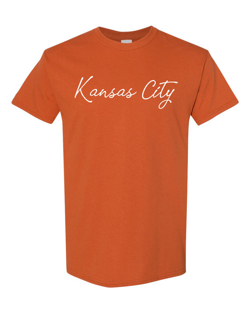 Kansas City Cursive Tee (Yam)