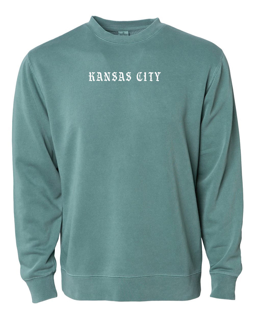 Old KC Font Crewneck (Alpine Green